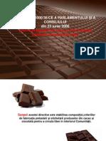 Legislatia privind consumul produselor alimentare din cacao si ciocolata