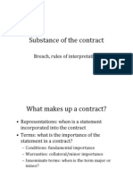 Substance of the Contract