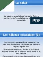 Presentación del tema 1 sobre la salud por Alexander Peláez