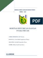 RESEÑA HISTORICA DE LA DANZA LLAMISH