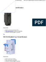 What is the Difference Between MCB, MCCB, ELCB, And RCCB _ EEP