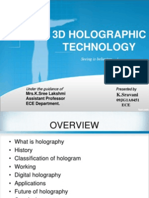 3D holographic technology | Holography | Charge Coupled Device