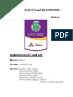 Determinacion Del pH & EGO