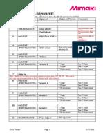 JV3 Print Head Alignments