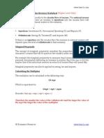 Multiplier Revision Worksheet