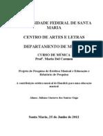Projeto de Pesquisa Estética Musical e Educação OZGA