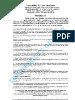 Upsc - Civil Services Examination Notification 2013