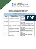 CIDH Calendario 147 Periodo de Sesiones Marzo 2013