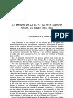 La Muerte Dela Gata de Juan Crespo-Poema Del Siglo Deoro- H. de Bonneville