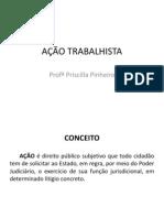 AÇÃO TRABALHISTA