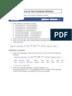 Test Ideas - Facebook