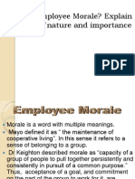 Emplyee Morale