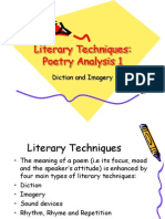 Literary Techniques Poetry Analysis 1