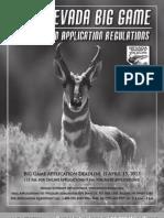2013 Nevada Big Game Seasons and Application Regulations
