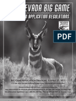 2013 Nevada Big Game Seasons and Application Regulations