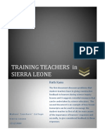 Educating Teachers in Sierra Leone