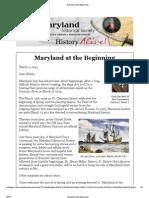 Maryland at the Beginning