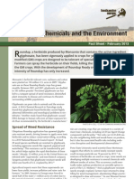 GM Crops, Chemicals and the Environment