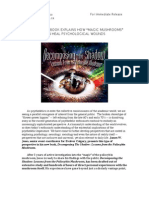 """Independant Books Explains How """"Magic Mushrooms"""" Can Heal Psychological Wounds - March 6 2013 - James W. Jesso"""