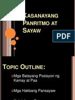 Kasanayang Panritmo at Sayaw