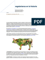 10 Genios Vegetarianos en La Historia