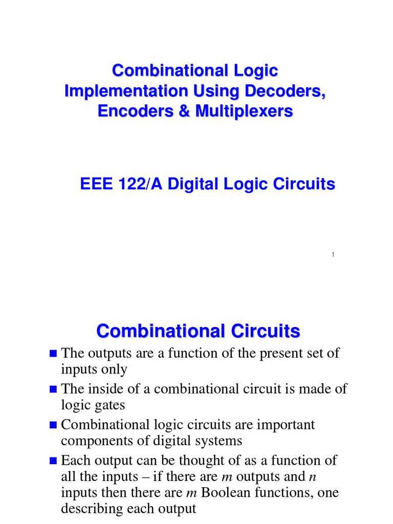 Eee 122 Combination Al Logic Chapter 4 Electronic Engineering Diagram Of 3x8 Decoder Electrical Circuits