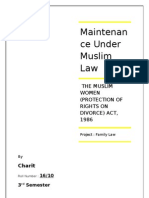 Maintenance Muslim Law Project