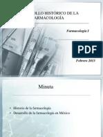 UNIDAD I Historia de La Farmacologia 05-02-2013