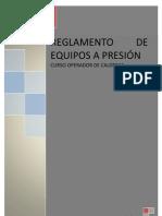 Reglamento y Manual Operador Calderas