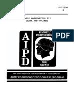 Army Basic Mathematics III Area and Volume