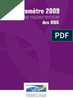 Baromètre de Transparence ONG 2009