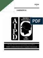 Army Engineer Carpentry III