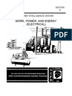 Army Electrical Work Power and Energy