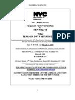 Teacher Data RFP