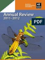 Annual Review 2011-2012, Berks, Bucks & Oxon Wildlife Trust