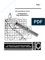 Army Engineer Cartography I Map Mathematics
