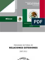 Plan Sectorial de Relaciones Exteriores 2007-2012