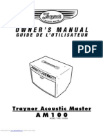 Traynor AM100 Manual