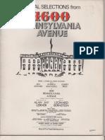 1600 Pennsylvania Avenue - Vocal Selections