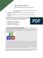 El sistema de clasificación ABC de los materiales