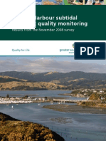 Porirua Harbour Subtidal Sediment Quality Monitoring Results From November 2008 Survey