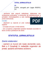 Statut Jurnalist Analiza Comparativa Bb(1)