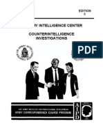 Army Counterintelligence Investigations
