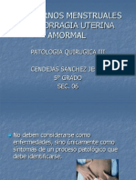 Trastornos Menstruales y Hemorragias Uterinas Amormales