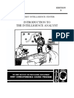Army Introduction to the Intel. Analyst