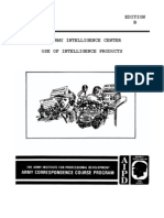 Army Use of Intelligence Products