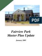 Fairview Park Master Plan 2005 Update
