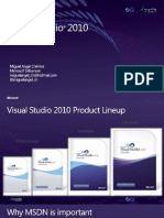 Versiones Visual Studio 2010