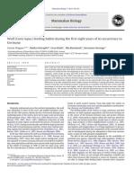 Ulvens kostvaner i Tyskland de første otte år efter dens tilbagekomst (videnskabelig artikel)