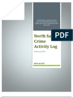 North Sac Crime Activity Log (February 2013)